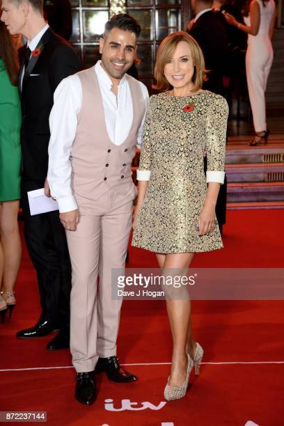 Dr Ranj Singh and Sian Williams attend the ITV Gala held at the London Palladium on November 9 2017 in London England