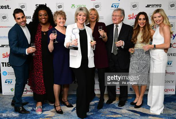 Dr Ranj Singh , Georgia Toffolo , Chris Steele , Ruth Langsford , Alison Hammond , Alice Beer with the Daytime Programme Award for This Morning...