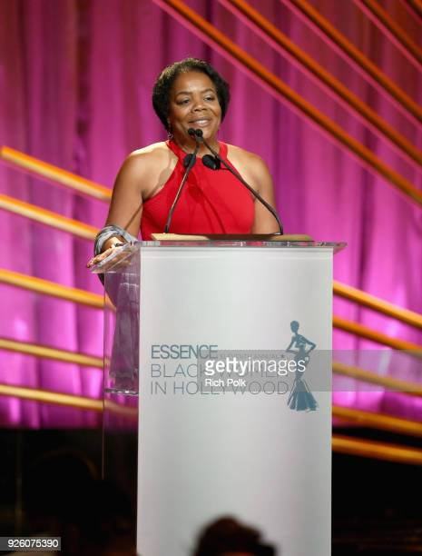 Dr Reates Curry speaks onstage during the 2018 Essence Black Women In Hollywood Oscars Luncheon at Regent Beverly Wilshire Hotel on March 1 2018 in...