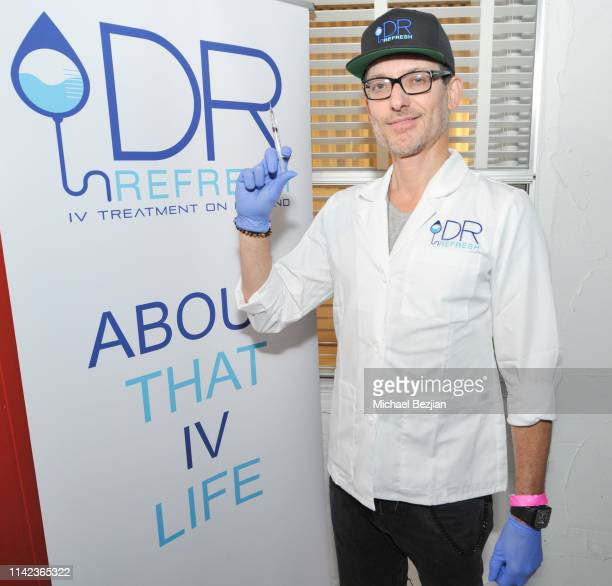 Dr Refresh poses for portrait at beGlammed Sunset Soiree Presented by Fullscreen on April 12 2019 in Palm Springs California