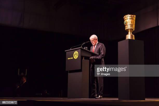 Dr Reinhard Rauball of Dortmund speaks during the annual general meeting of German first division Bundesliga football club Borussia Dortmund on...