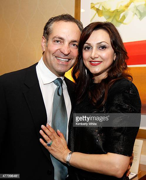 Dr Reza Malek and Bita Daryabari pose for a photograph at the PARS Equality Center 4th Annual Nowruz Gala at Marriott Waterfront Burlingame Hotel on...
