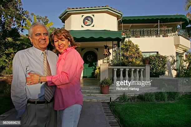 Dr Richard and Rebecca Zapanta in front of their home in Whittier Wednesday March 19 2008The story is about the evolution of Whittier a town best...