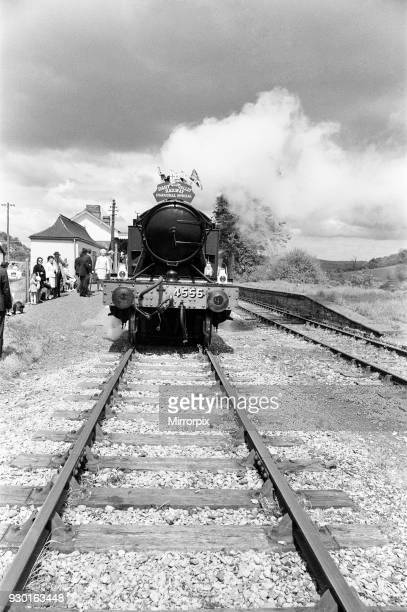 Dr Richard Beeching, Chairman of British Railways, reopens the Dart Valley Railway, South Devon Railway, 21st May 1969. He became a household name in...