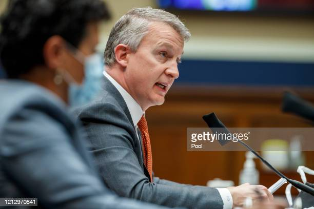 Dr Richard Bright former director of the Biomedical Advanced Research and Development Authority testifies at a House Energy and Commerce Subcommittee...