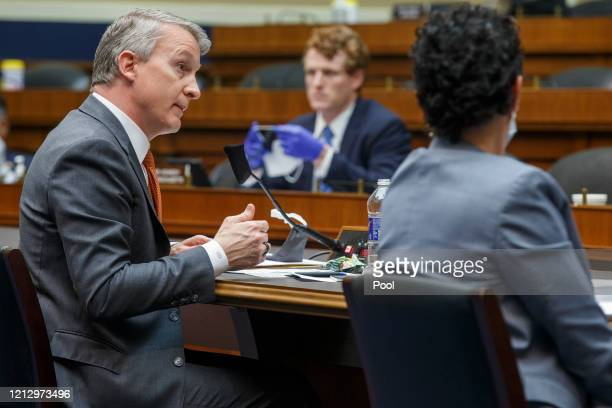 Dr Richard Bright former director of the Biomedical Advanced Research and Development Authority testifies for a House Energy and Commerce...