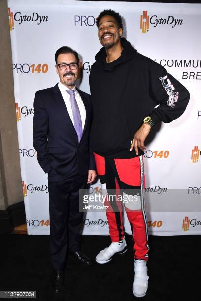 Dr Richard G Pestell and Rashid Byrd attend CytoDyn's Pro 140 Awareness Event for HIV and Cancer Prevention at The Roosevelt Hotel in Hollywood on...