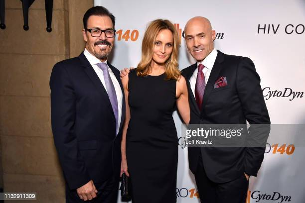 Dr Richard G Pestell Beri Smithers and Chris Clark attend CytoDyn's Pro 140 Awareness Event for HIV and Cancer Prevention at The Roosevelt Hotel in...
