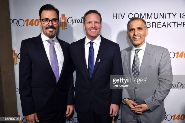 Dr Richard G Pestell Dr Nader Pourhassan and guest attend CytoDyn's Pro 140 Awareness Event for HIV and Cancer Prevention at The Roosevelt Hotel in...