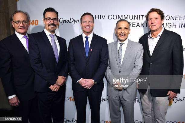 Dr Richard G Pestell Dr Nader Pourhassan and guests attend CytoDyn's Pro 140 Awareness Event for HIV and Cancer Prevention at The Roosevelt Hotel in...