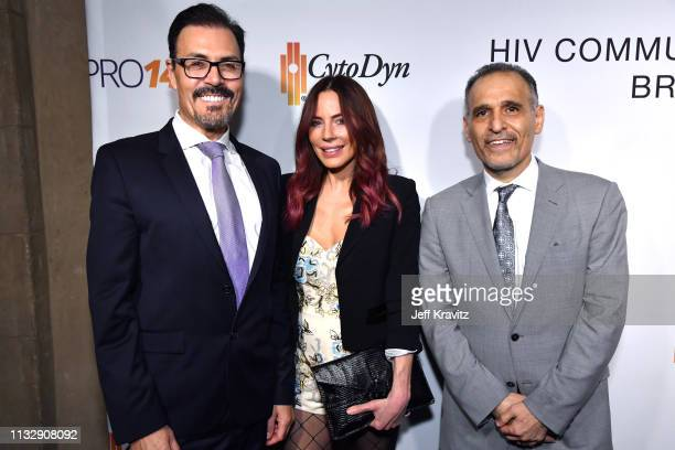 Dr Richard G Pestell Krista Allen and Dr Nader Pourhassan attend CytoDyn's Pro 140 Awareness Event for HIV and Cancer Prevention at The Roosevelt...