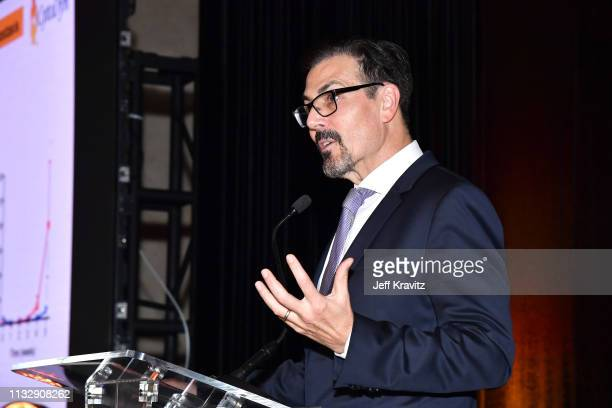 Dr Richard G Pestell speaks onstage during CytoDyn's Pro 140 Awareness Event for HIV and Cancer Prevention at The Roosevelt Hotel in Hollywood on...
