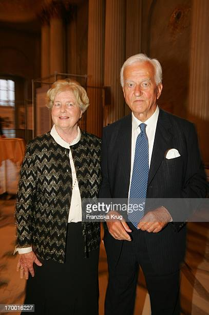 Dr Richard von Weizsäcker and wife Marianne at the gala performance of Eichinger's production of Parsifal in The State Opera in Berlin