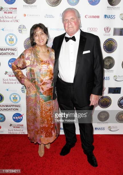 Dr Robbie Brinton and Dr Ted Berger attend the 16th annual 'Gathering for Cure' black tie awards gala of Brain Mapping Foundation on March 16 2019 in...