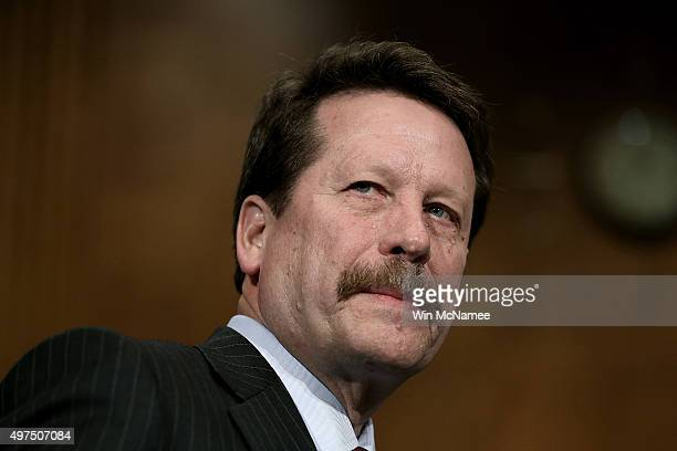 Dr. Robert Califf awaits the start of his nomination hearing before the Senate Health, Education, Labor and Pensions Committee November 17, 2015 in...