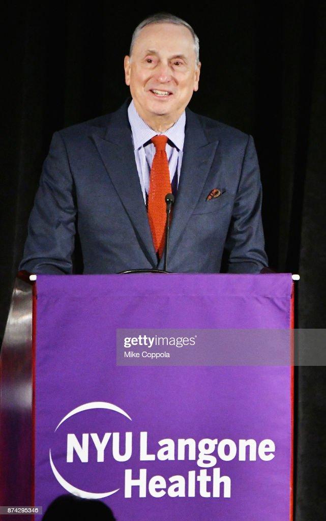 Dr  Robert Grossman speaks onstage during the NYU Langone