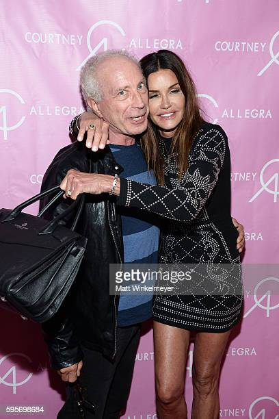 Dr Robert 'Rocky' Gerner and model Janice Dickinson attend the Courtney Allegra VIP Store Opening and Fashion Show on August 25 2016 in Los Angeles...
