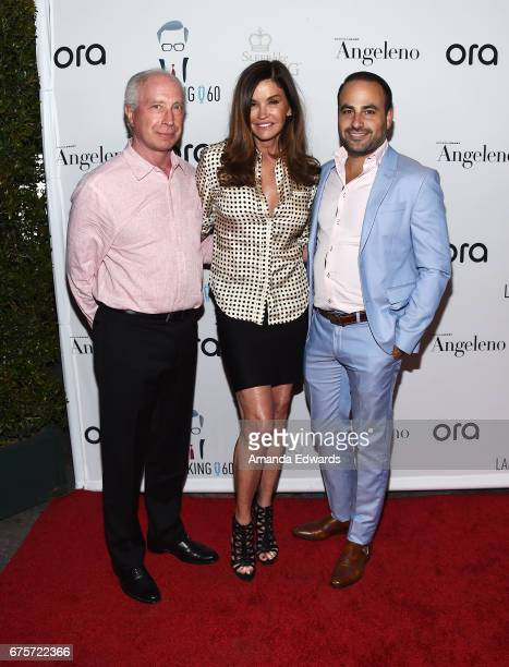 Dr Robert Rocky Gerner model Janice Dickinson and Dr Ben Talei arrive at Larry King's 60th Broadcasting Anniversary Event at HYDE Sunset Kitchen...