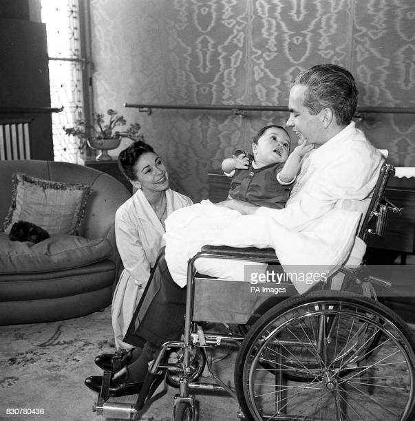 Dr Roberto Arias with his wife ballerina Dame Margot Fonteyn and their friend's son at their home in Kensington London Arias was shot in Panama nine...