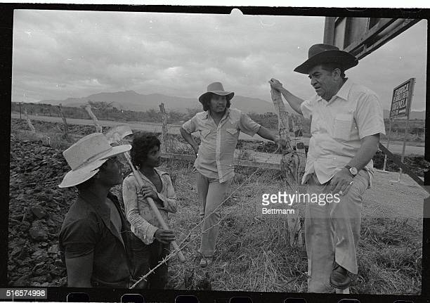 Dr. Roberto Suazo Cordova, who is to be the next President of Honduras, talks to peasants during his campaign, as shown here. Victor in the nation's...