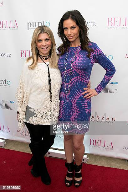 Dr Robi Ludwig and Jill Nicolini attend the BELLA New York March/April 2016 Ladies Night Out cover launch party at Punto Space on March 14 2016 in...