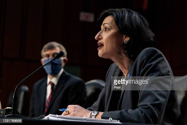 Dr. Rochelle Walensky, Director for Centers for Disease Control and Prevention, speaks during a hearing, with the Senate Committee on Health,...
