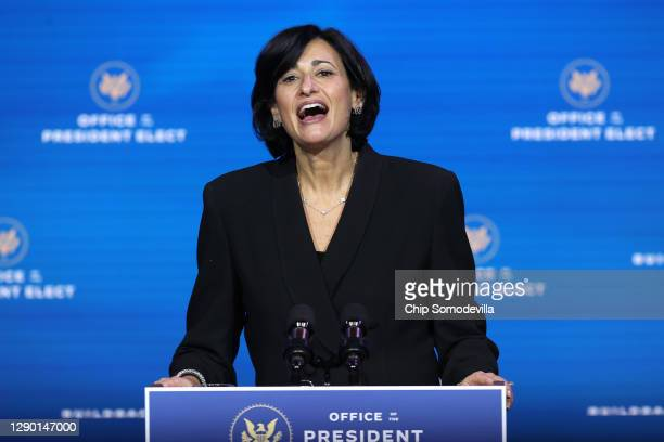 Dr. Rochelle Walensky, President-elect Joe Biden's pick to head the Centers for Disease Control, speaks during a news conference at the Queen Theater...