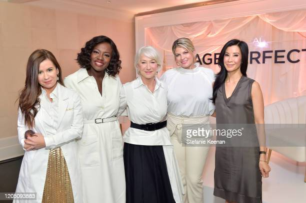 Dr. Rocio Rivera, Viola Davis, Helen Mirren, Cara Kamenev and Lisa Ling join LOréal Paris to celebrate the launch of Age Perfect Cosmetics on March...