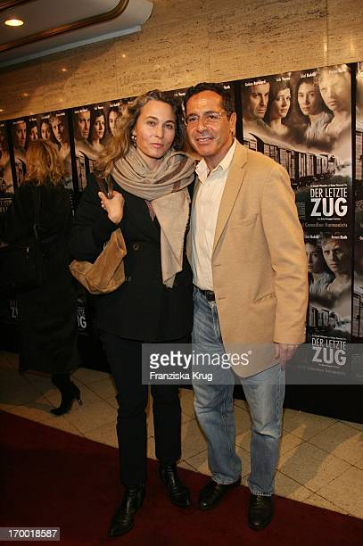 Dr Roger Schawinski And His wife Gabriella Sontheim at the movie premiere of The Last train In Berlin