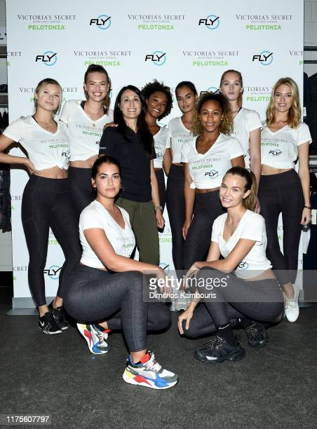 Dr Rosa Lapalombella and Sherica Holmon join Victoria's Secret Angels cycle to end cancer hosted by Angels Martha Hunt Josephine Skriver Alexina...