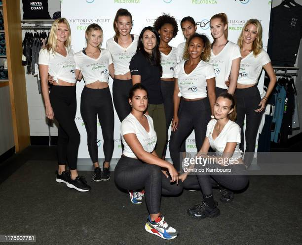 Dr Rosa Lapalombella Sherica Holmon and Alexandra Richards join Victoria's Secret Angels cycle to end cancer hosted by Angels Martha Hunt Josephine...