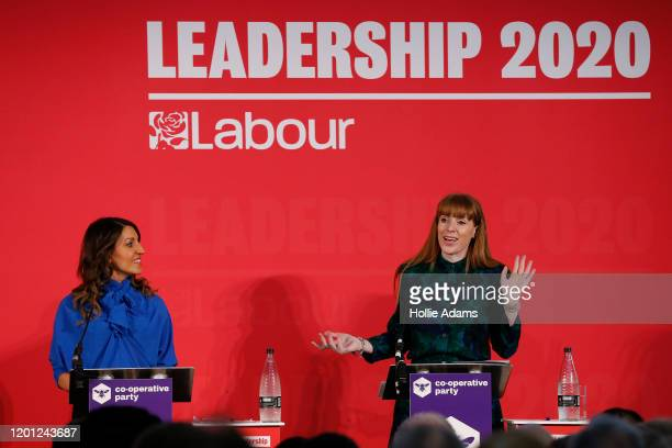 Dr Rosena AllinKhan and Angela Rayner speak at a hustings event for Labour Leader and Deputy Leader hosted by the Cooperative Party at the Business...