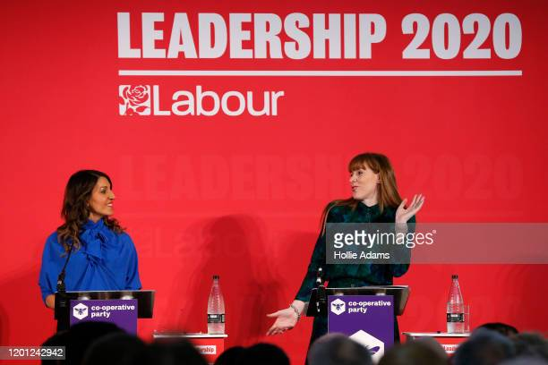 Dr Rosena AllinKhan and Angela Rayner speaking at a hustings event for Labour Leader and Deputy Leader hosted by the Cooperative Party at the...