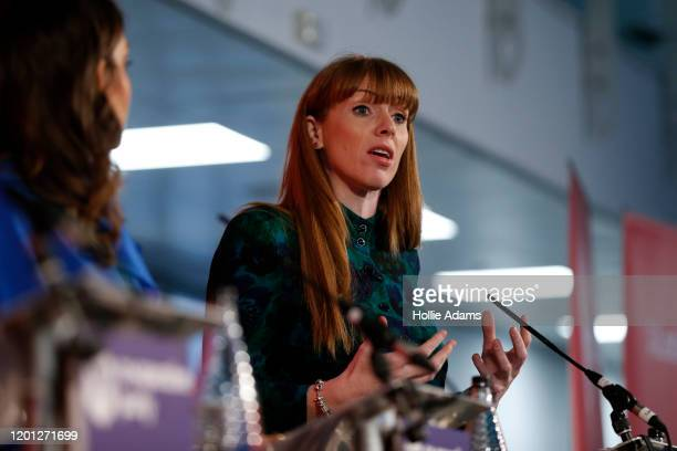 Dr Rosena AllinKhan listens to Angela Rayner speak at a hustings event for Labour Leader and Deputy Leader hosted by the Cooperative Party at the...