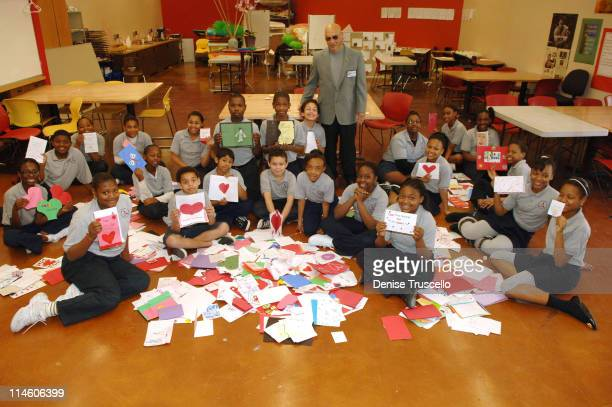 Dr Roy W Kekahuna and students of The Andre Agassi Prep School present 1400 hand made Valentine cards to veterans at The Andre Agassi Prep School on...