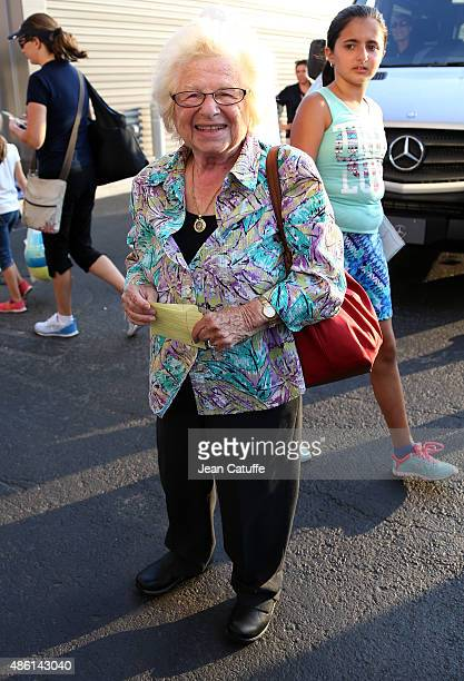 Dr Ruth aka Ruth Westheimer attends the 15th Annual USTA Opening Night Gala on Day 1 of the 2015 US Open at USTA Billie Jean King National Tennis...