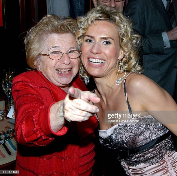 Dr Ruth Westheimer and Anna Malova wearing Chopard jewelry