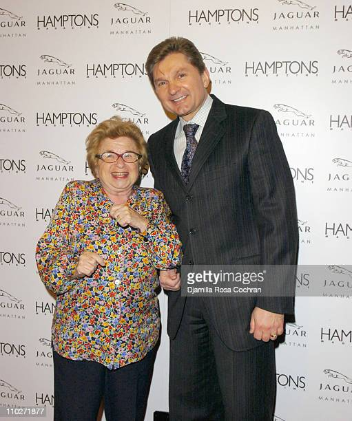 Dr Ruth Westheimer and Gary Flom President and CEO of Manhattan Automobile Company