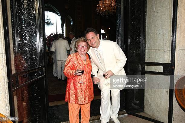 Dr Ruth Westheimer and Jason Binn at the wedding of Ivana Trump and Rossano Rubicondi at the MaraLago Club on April 12 2008 in Palm Beach Florida