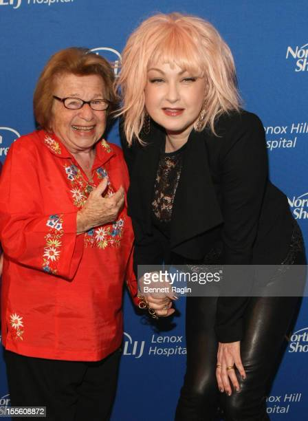 Dr Ruth Westheimer and singer Cyndi Lauper attend Lenox Hill Hospital's autumn ball on November 5 2012 in New York City