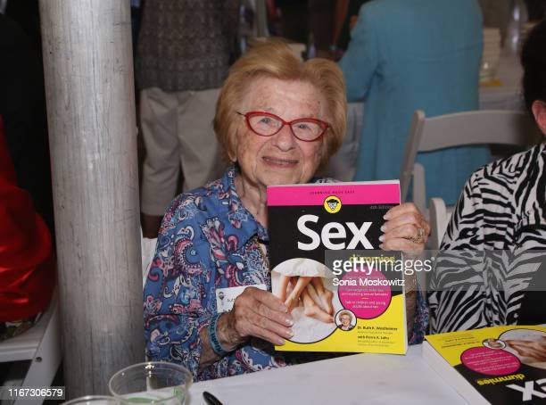 Dr Ruth Westheimer at the East Hampton Library's 15th Annual Authors Night Benefit on August 10 2019 in Amagansett New York