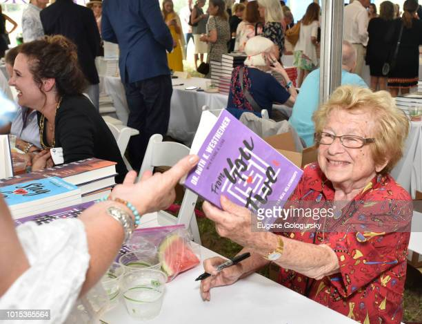 Dr Ruth Westheimer attends Authors Night At East Hampton Library on August 11 2018 in East Hampton New York