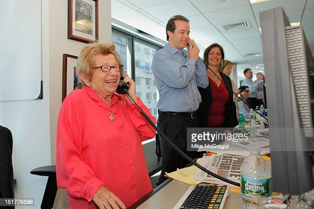 Dr Ruth Westheimer attends Cantor Fitzgerald BGC Partners host annual charity day on 9/11 to benefit over 100 charities worldwide at Cantor...