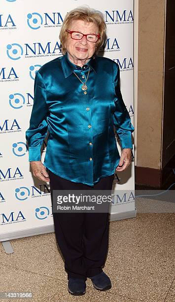 Dr Ruth Westheimer attends the 2012 National Meningitis Association gala at the New York Athletic Club on April 23 2012 in New York City