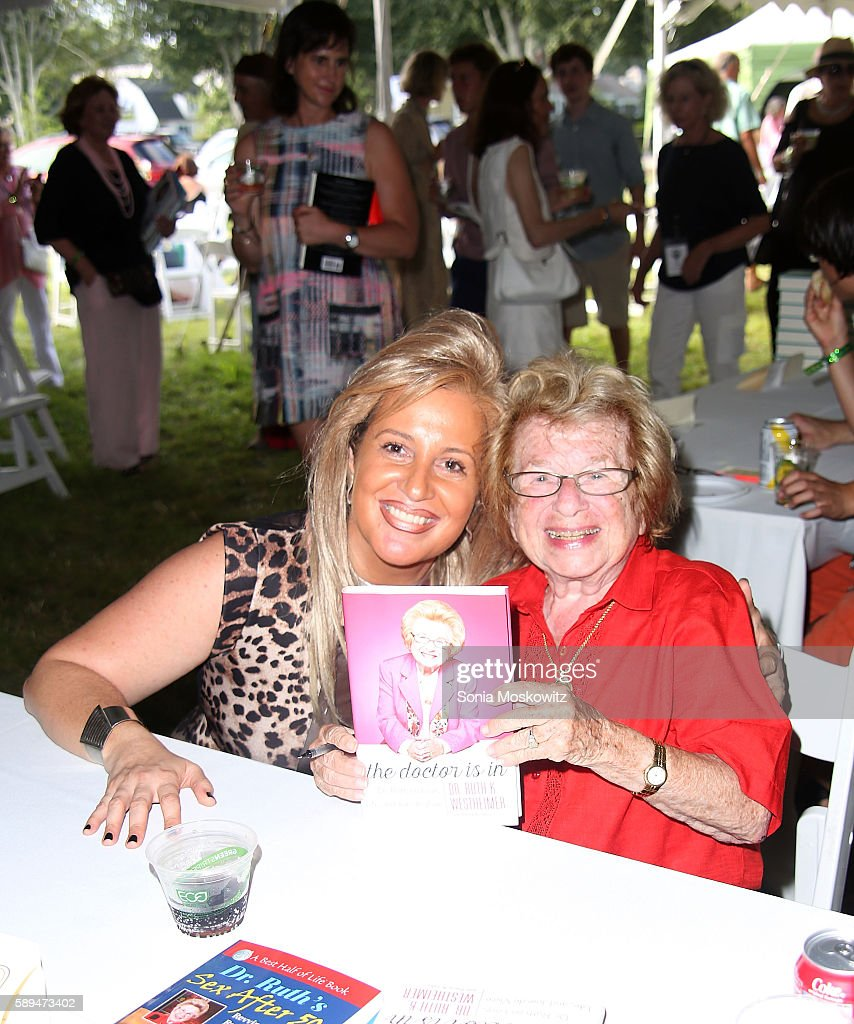 Dr. Ruth Westheimer attends the East Hampton Library's 12th Annual Authors Night Benefit on August 13, 2016 in East Hampton, New York.