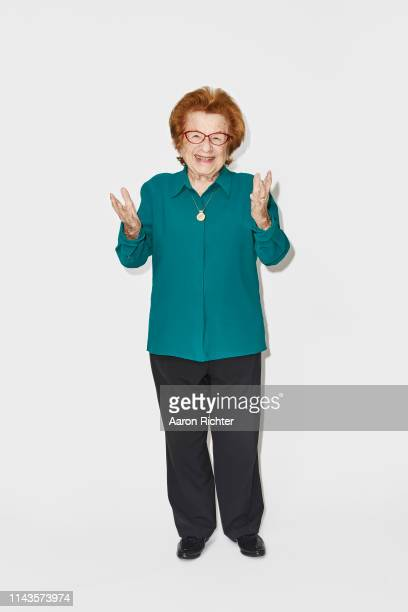 Dr Ruth Westheimer is photographed for New York Times on April 23 2019 at home in New York City PUBLISHED IMAGE