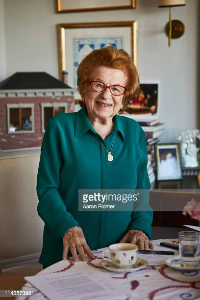 Dr Ruth Westheimer is photographed for New York Times on April 23 2019 at home in New York City