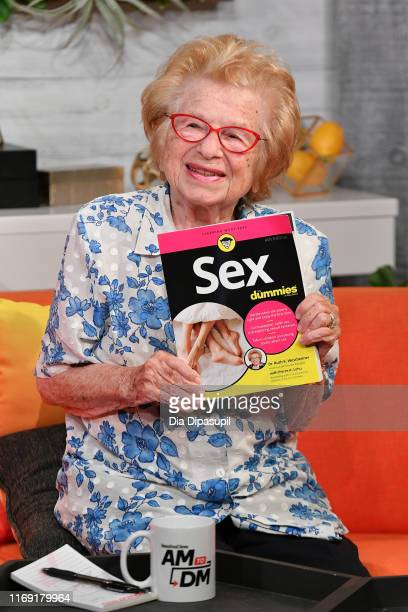 "Dr. Ruth Westheimer visits BuzzFeed's ""AM to DM"" on August 20, 2019 in New York City."