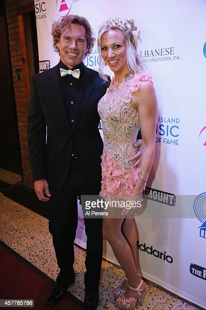 Dr Rutledge Taylor accompanies Debbie Gibson when she is inducted into the Long Island Music Hall of Fame when she attends the Long Island Music Hall...