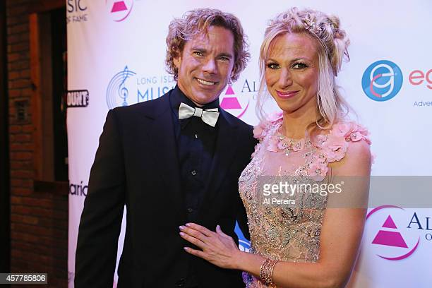 Dr. Rutledge Taylor accompanies Debbie Gibson when she is inducted into the Long Island Music Hall of Fame when she attends the Long Island Music...